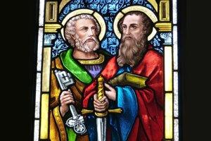 Svätí Peter a Pavol.