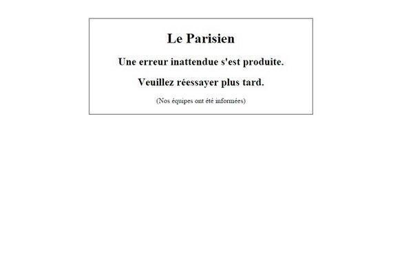 Stránka Le Parisien.