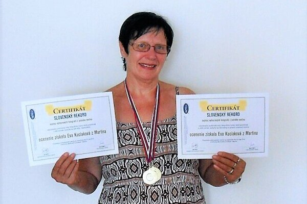 Eva Kuciaková už dostala certifikáty potvrdzujúce získanie rekordu.