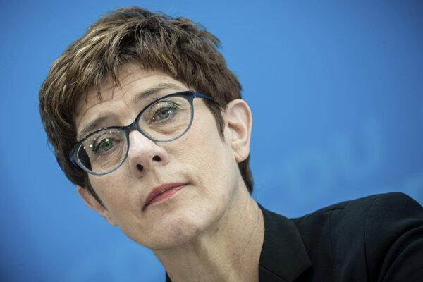 Predsedníčka nemeckej Kresťanskodemokratickej únie (CDU) Annegret Krampová-Karrenbauerová.