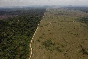 Deforestácia brazílskeho pralesa.