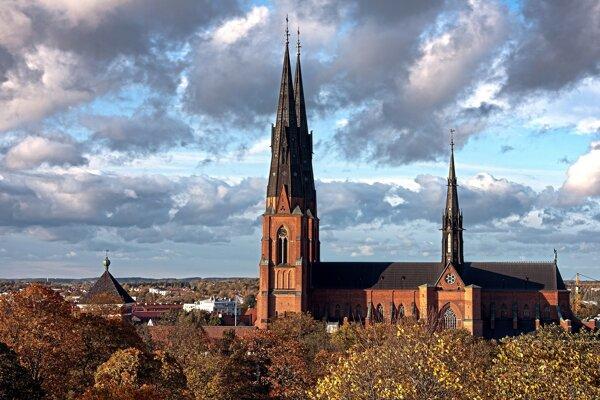 Švédske malebné mestečko Uppsala.