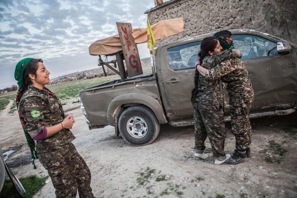 Bojovníčky v Sýrii.