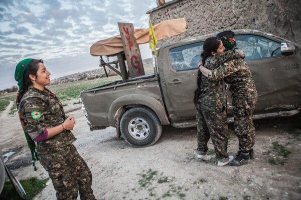 Kurdské bojovníčky v Sýrii.