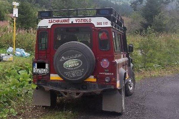 Turistku transportovali terénnym vozidlom do Červeného Kláštora.