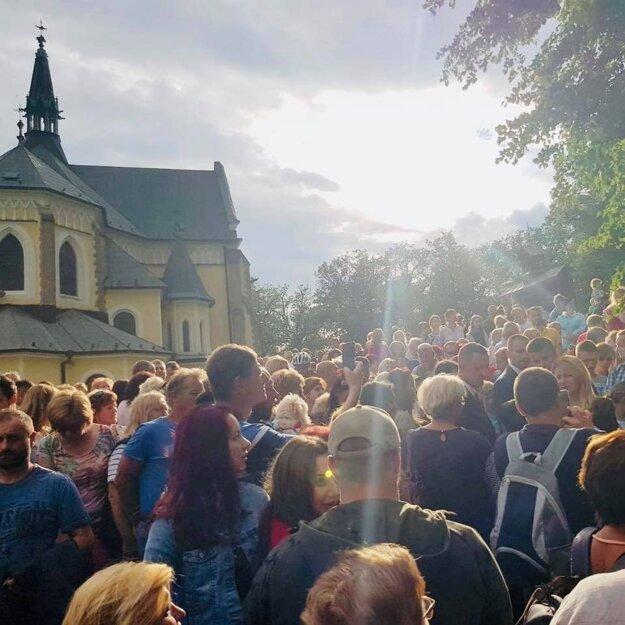 Svätá omša v predvečer Levočskej púte.