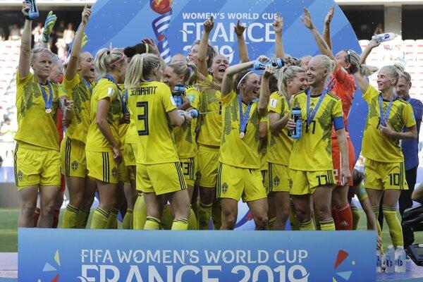 Švédska ženská reprezentácia získala bronz na MS vo futbale.