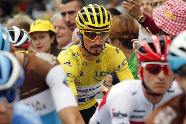 ulian Alaphilippe, líder Tour de France 2019 pred šiestou etapou.