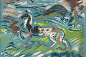 Expresionistický Kôň z roku 1937.