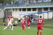 Záber zo zápasu Komárno – Ménfőcsanak 2:1.