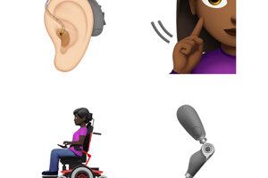 Nový update obsahuje aj emoji načúvacieho prístroja a protézy.