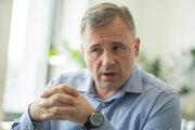 Valentin Vinogradov počas rozhovoru pre Denník SME.