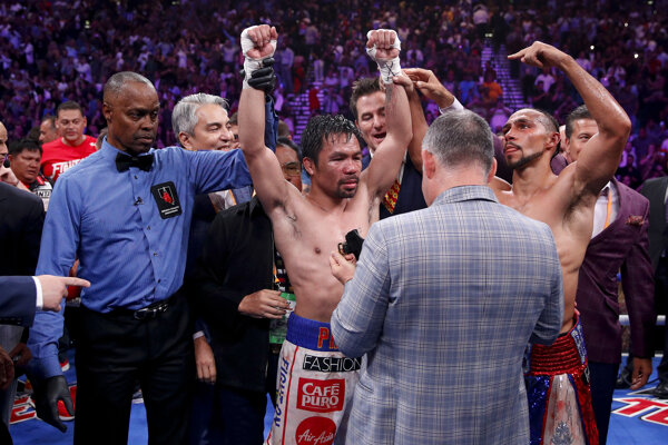 Manny Pacquiao získal titul majstra sveta.