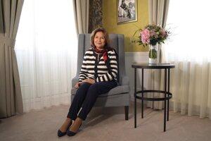 Emília Vášaryová v apartmáne, ktorý nesie jej meno.