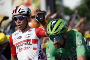 Peter Sagan (vpravo) si udržal zelený dres na Tour de France 2019.
