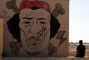 Graffiti Kaddáfího.