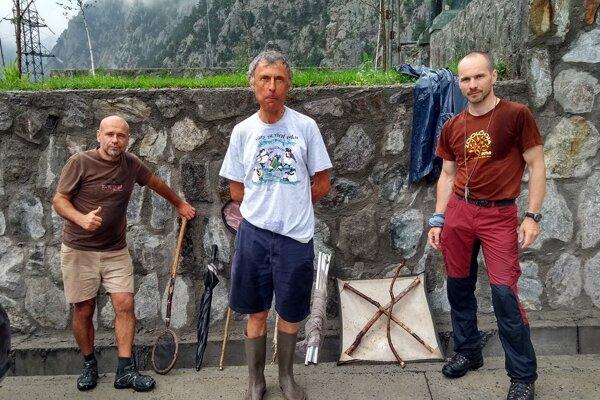 Prešovčan (vpravo) na Kaukaze.