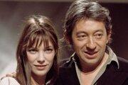 Jane Birkin a Serge Gainsbourg ako mladí a zamilovaní.