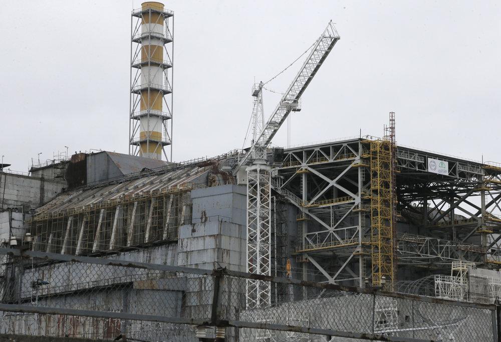 Pohľad na bývalú elektráreň Černobyľ.