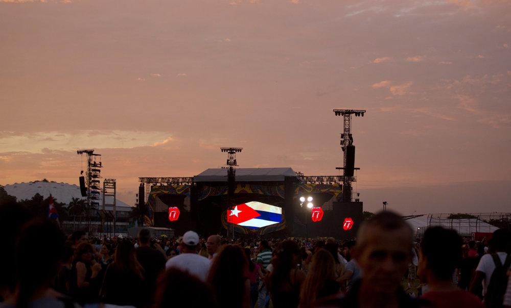 Západ Slnka pred koncertom.