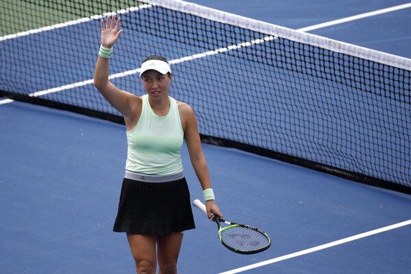 Jessica Pegulová na turnaji WTA vo Washingtone 2019.