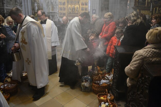 Dóm sv. Alžbety v Košiciach 26. marca 2016.