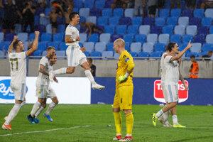 Momentka zo zápasu ŠK Slovan Bratislava - FC Dundalk (Európska liga).