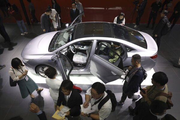 Elektromobil novej značky Geometry čínskej automobilky Geely.