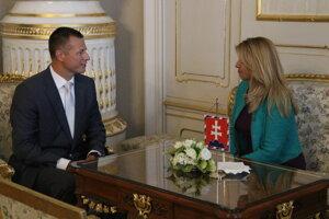 Minister spravodlivosti Gábor Gál a prezidentka Zuzana Čaputová.