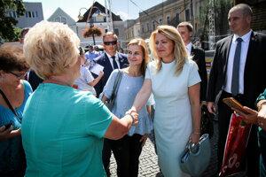Počas návštevy sa stihla prejsť aj po Mariánskom námestí.