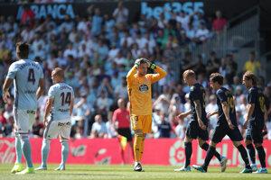 Sklamaní hráči Celty Vigo.