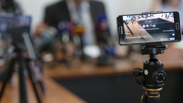 Snímka z tlačovej konferencie Úradu špeciálnej prokuratúry v Pezinku k vyšetrovaniu vraždy novinára Jána Kuciaka a jeho snúbenice Martiny Kušnírovej na Špecializovanom trestnom súde v Pezinku.