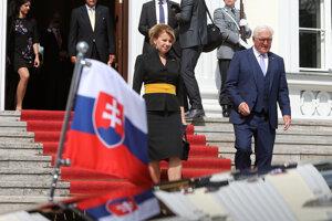 Nemecký prezident Frank-Walter Steinmeier a slovenská prezidentka Zuzana Čaputová.