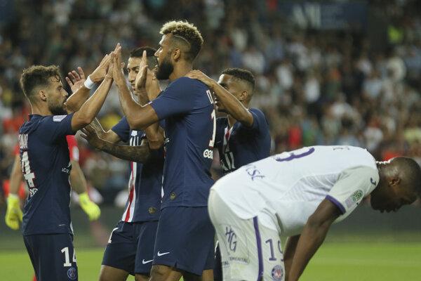 Zápas medzi PSG a Toulouse.