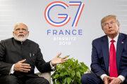 Indický premiér Naréndra Módí a americký prezident Donald Trump.