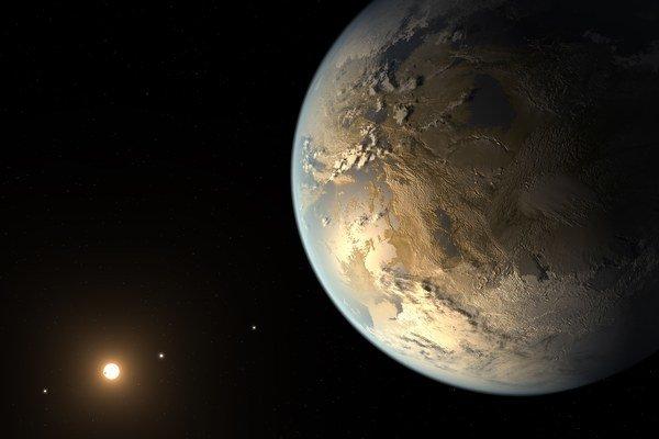 Kepler-186f, prvá potvrdená exoplanéta veľká ako Zem a v obývateľnej zóne.
