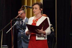Martina Brisudová, primátorka mesta Poltár.
