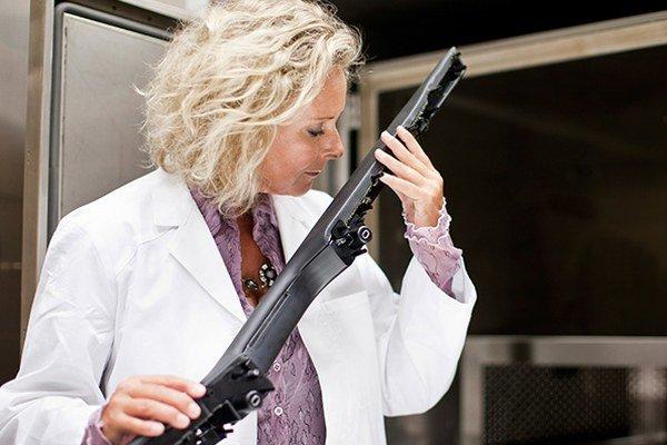 """Claudia Schempp, členka """"nosového tímu"""" automobilky Mercedes-Benz."""