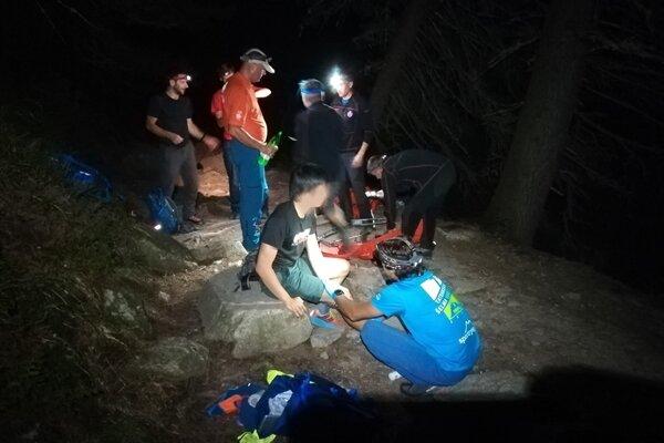 Mladý Američan sa zranil ped vodopádom Skok.