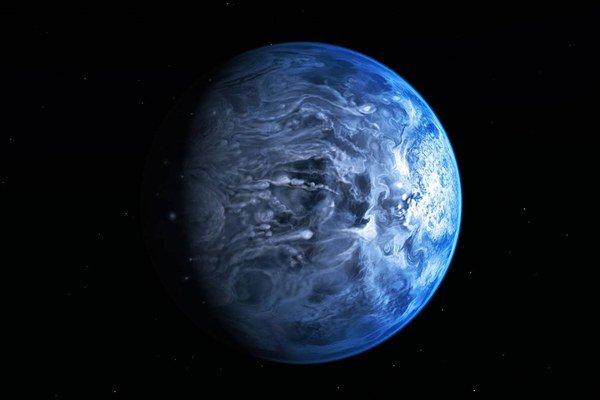 Obrovská modrá planéta našu Zem vôbec nepripomína. Je tam príliš teplo a v jej atmosfére poletuje roztavené sklo.