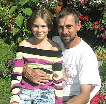 jozef brťka s dcérou