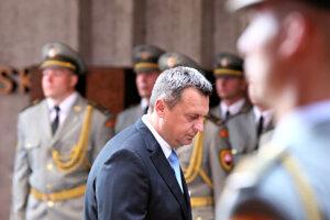 Predseda parlamentu Andrej Danko počas pietneho aktu kladenia vencov pri príležitosti osláv 75. výročia Slovenského národného povstania.