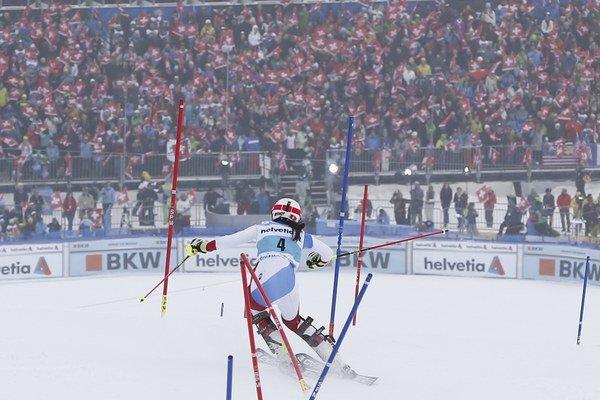 Švajčiarska lyžiarka Wendy Holdenerová.