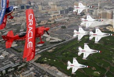foto - reuters: letecká show v las vegas