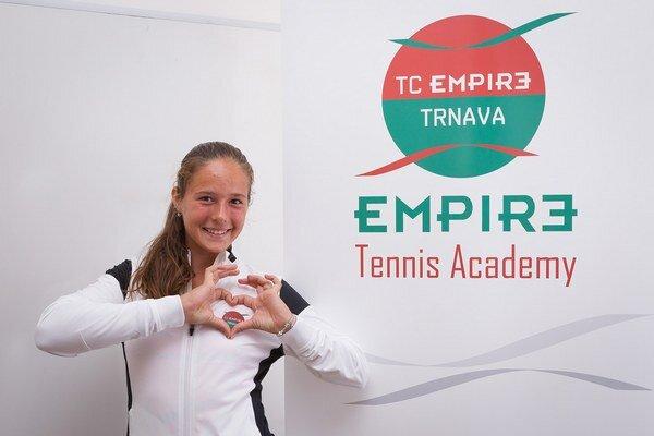 Talentovaná ruská hráčka má svoj tréningový stan rozložený v Trnave.