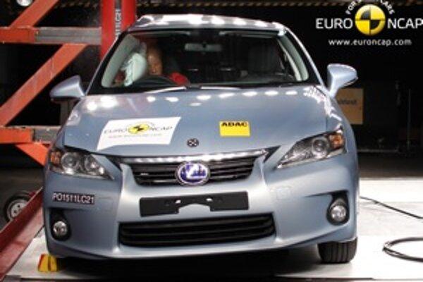 Lexus vynikol ochranou kolien a stehenných kostí pasažierov na všetkých sedadlách.