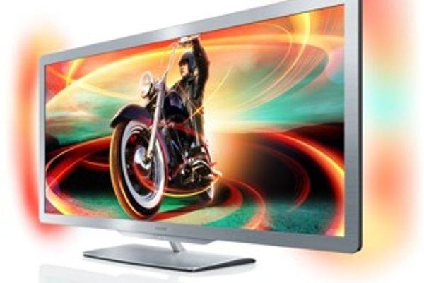 Technológia Ambilight osvetľuje okolie televízora pomocou LED diód. Ich farba sa mení v závislosti od scény.