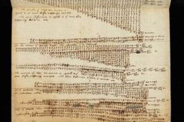 Rukopis Isaaca Newtona.
