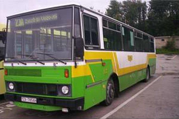 Autobus žilinskej mestskej hromadnej dopravy.