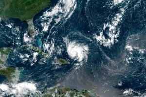 Hurikán Dorian pred príchodom k Bahamám.